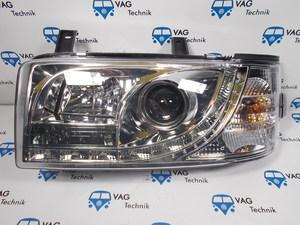 Фары передние с линзой хромированные VW T4 AC0 (комплект)