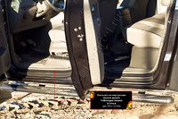 Накладки на внутренние пороги дверей VW Amarok