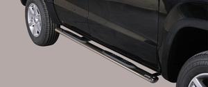 Боковые овальные трубы со ступенями для VW Amarok из нержавеющей стали