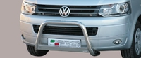 Высокая передняя защита для VW T5 (Кенгурин) из нержавеющей стали