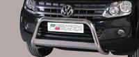 Защита переднего бампера Medium для VW Amarok из нержавеющей стали