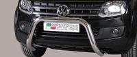 Защита переднего бампера Super для VW Amarok из нержавеющей стали